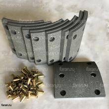 Накладка задней тормозной колодки (3552-00214) Yutong ZK 6737